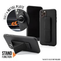 Apple iPhone 11 Pro Max Magnetic Stand Fekete Színű Matt Szilikon Tok