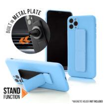 Apple iPhone 11 Magnetic Stand Világoskék Színű Matt Szilikon Tok