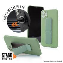 Samsung A12 Magnetic Stand Világoszöld Színű Matt Szilikon Tok