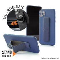 Apple iPhone 7 / 8 / SE 2020 Magnetic Stand Sötétkék Színű Matt Szilikon Tok