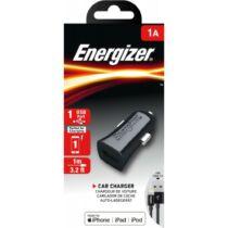 Energizer Car Charger USB Lightning szivargyújtó töltő MFI 1A 1m - fekete