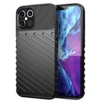 Samsung A22 4G Thunder Case Fekete Színű Ütésálló Szilikon Tok
