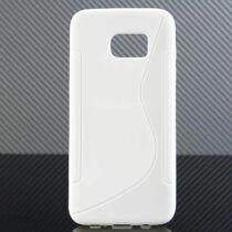 Apple iPhone 6 Plus / 6S Plus S-Line Fehér Színű Szilikon Tok