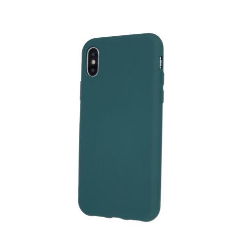 Samsung A42 Matt Sötétzöld Színű Szilikon Tok