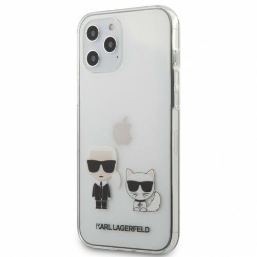 Apple iPhone 12 Pro Max Karl Lagerfeld Hátlapvédő Tok Átlátszó (KLHCP12LCKTR)