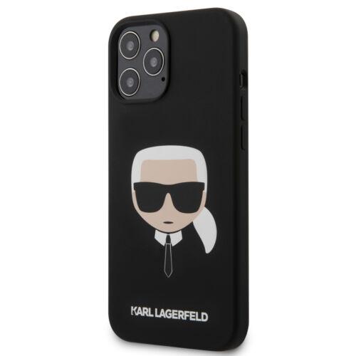 Apple iPhone 12 / 12 Pro Karl Lagerfeld Hátlapvédő Tok Fekete (KLHCP12MSLKHBK)