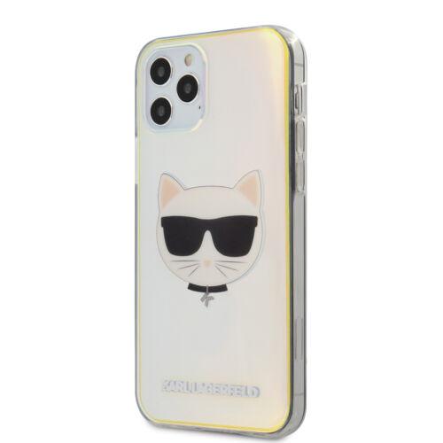 Apple iPhone 12 / 12 Pro Karl Lagerfeld Hátlapvédő Tok Irizáló (KLHCP12MCIR)