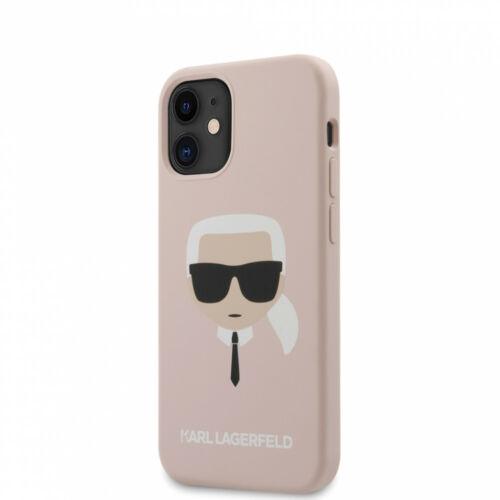 Apple iPhone 12 Mini Karl Lagerfeld Hátlapvédő Tok Rózsaszín (KLHCP12SSLKHLP)