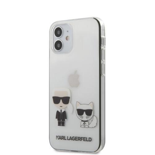 Apple iPhone 12 Mini Karl Lagerfeld Hátlapvédő Tok Átlátszó (KLHCP12SCKTR)