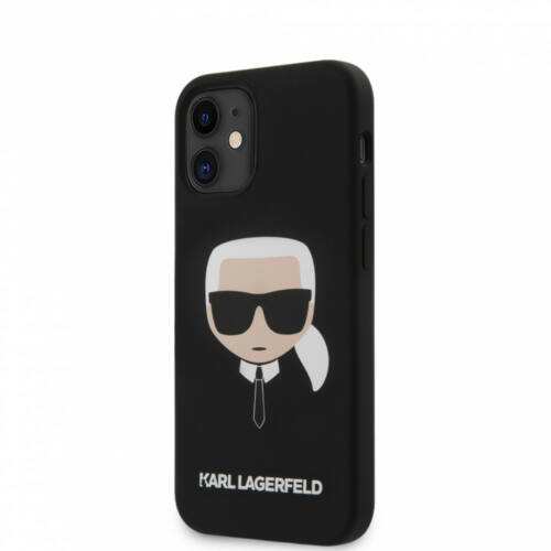 Apple iPhone 12 Mini Karl Lagerfeld Hátlapvédő Tok Fekete (KLHCP12SSLKHBK)