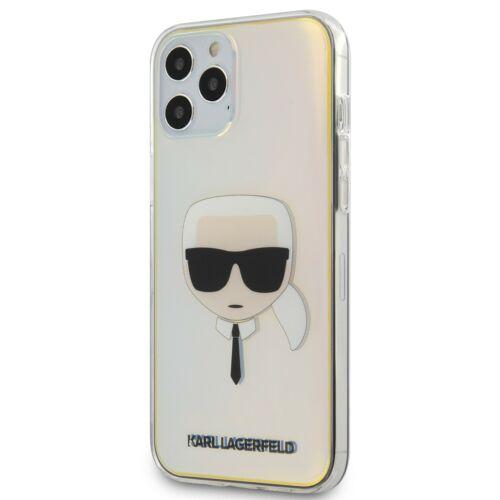 Apple iPhone 12 / 12 Pro Karl Lagerfeld Hátlapvédő Tok Irizáló (KLHCP12MPCKHML)