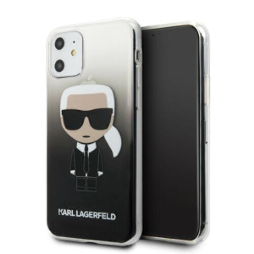 Apple iPhone 11 Karl Lagerfeld Hátlapvédő Tok Fekete (KLHCN61TRDFKBK)