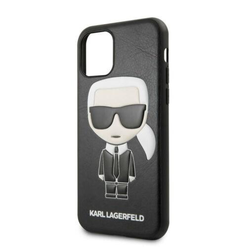 Apple iPhone 11 Karl Lagerfeld Hátlapvédő Tok Fekete (KLHCN61IKPUBK)
