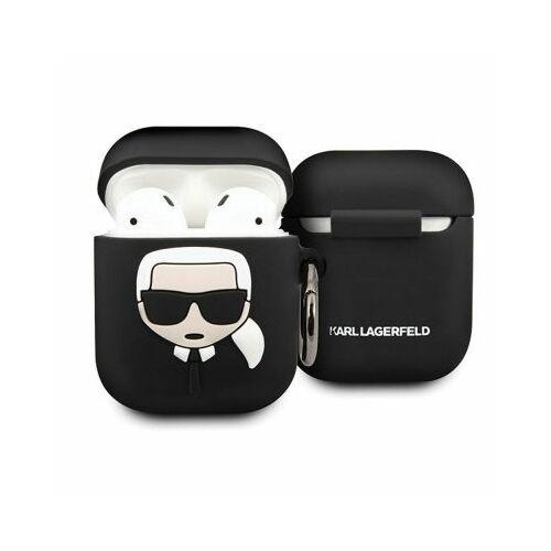 Apple AirPods Karl Lagerfeld Szilikon Tok Fekete (KLACCSILKHBK)