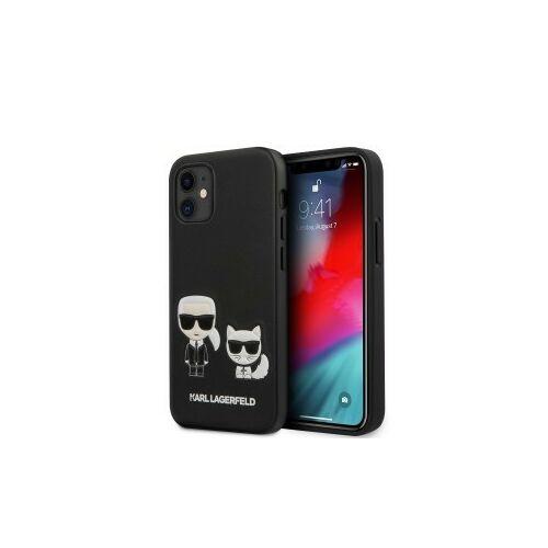 Apple iPhone 12 Mini Karl Lagerfeld Hátlapvédő Tok Fekete (KLHCP12SPCUSKCBK)