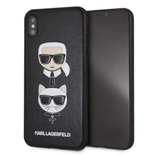 Apple iPhone XS Max Karl Lagerfeld Hátlapvédő Tok Fekete (KLHCI65KICKC)