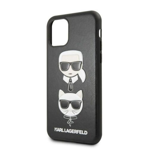 Apple iPhone 11 Pro Karl Lagerfeld Hátlapvédő Tok Fekete (KLHCN58KICKC)