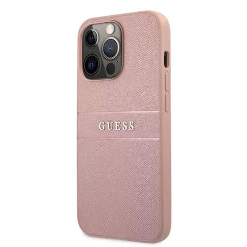 Apple iPhone 13 Pro Guess Hátlapvédő Tok Rózsaszín (GUHCP13LPSASBPI)