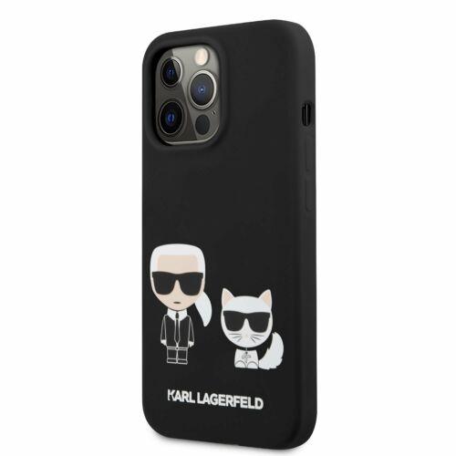 Apple iPhone 13 Pro Max Karl Lagerfeld Hátlapvédő Tok Fekete (KLHCP13XSSKCK)