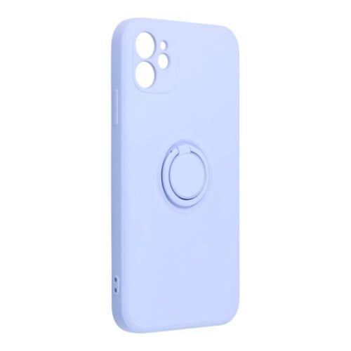Apple iPhone 7 / 8 / SE 2020 Silicone Ring Matt Felületű Viola Színű Szilikon Tok