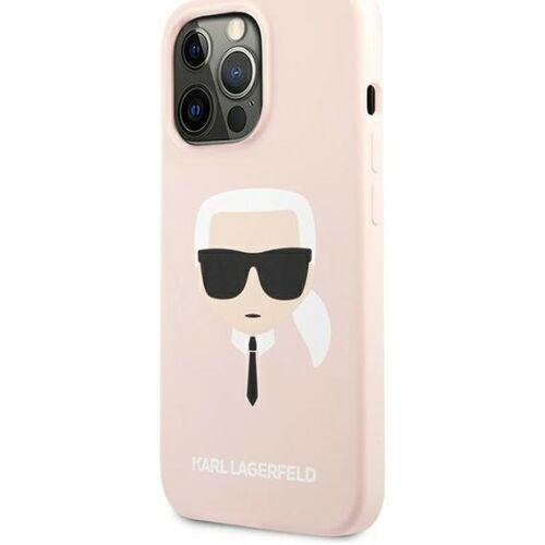 Apple iPhone 13 Pro Karl Lagerfeld Hátlapvédő Tok Rózsaszín (KLHCP13LSLKHLP)