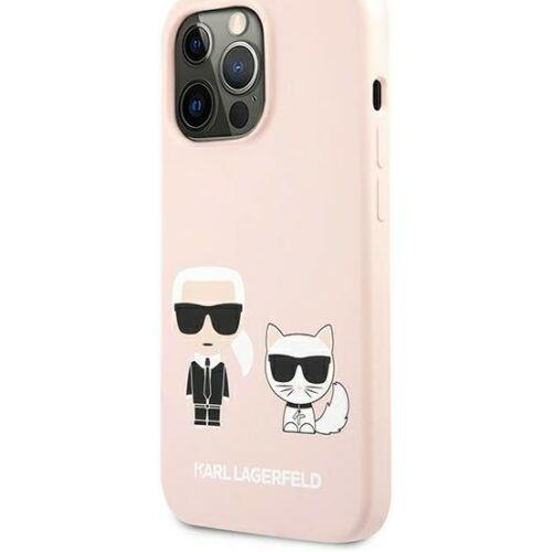 Apple iPhone 13 Pro Max Karl Lagerfeld Hátlapvédő Tok Rózsaszín (KLHCP13XSSKCI)