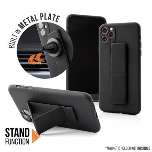 Apple iPhone 11 Pro Magnetic Stand Fekete Színű Matt Szilikon Tok