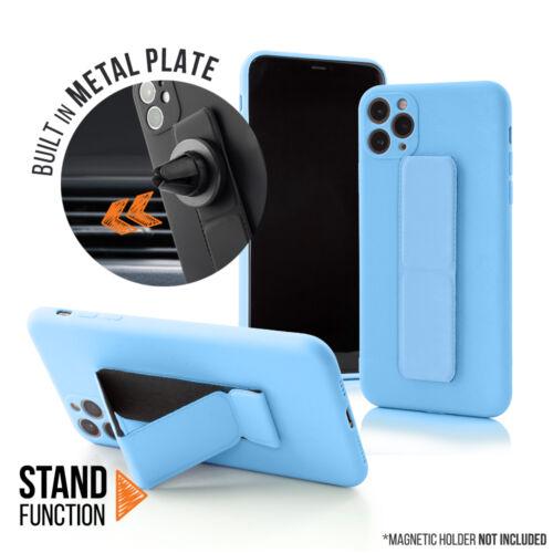 Apple iPhone 12 Pro Magnetic Stand Világoskék Színű Matt Szilikon Tok