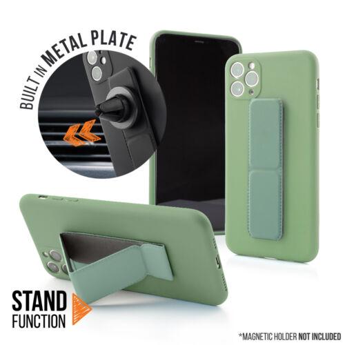 Samsung A32 5G Magnetic Stand Világoszöld Színű Matt Szilikon Tok