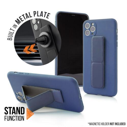 Apple iPhone 12 Pro Magnetic Stand Sötétkék Színű Matt Szilikon Tok