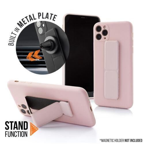 Samsung A12 Magnetic Stand Rózsaszín Színű Matt Szilikon Tok