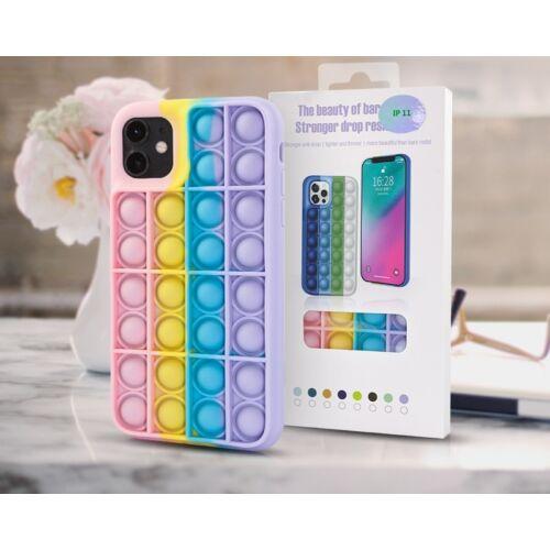 Apple iPhone 11 Bubble Pop It Up Szilikon Tok Színes