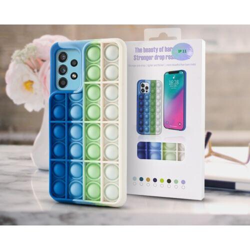 Samsung A12 Bubble Pop It Up Szilikon Tok Színes