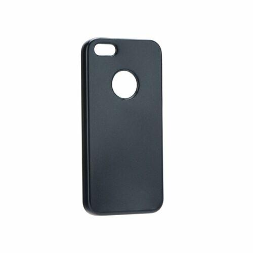 Apple iPhone 5 / 5S / SE Matt Fekete Színű Szilikon Tok