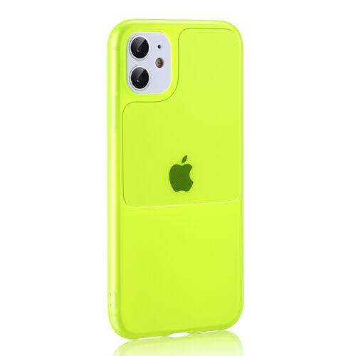 Apple iPhone 12 Pro Max TEL PROTECT Window Lime Színű Szilikon Tok