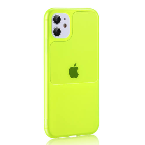 Apple iPhone 11 Pro TEL PROTECT Window Lime Színű Szilikon Tok