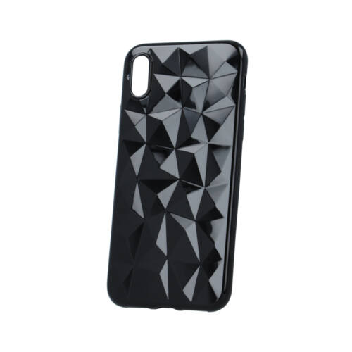 Huawei Y6 2018 Geometric Fekete Színű Szilikon Tok