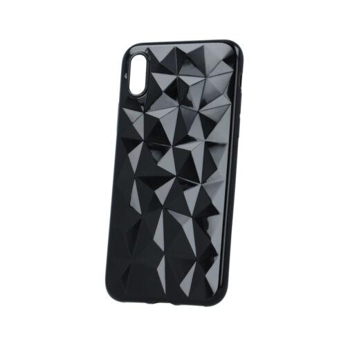 Huawei Y6 Prime 2018 Geometric Fekete Színű Szilikon Tok