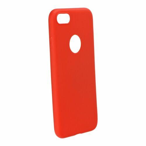 Samsung A12 Matt Piros Színű Szilikon Tok
