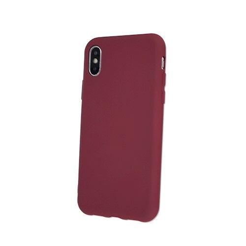 Apple iPhone 7 / 8 / SE 2020 Silicone Matt Felületű Burgundi Színű Szilikon Tok