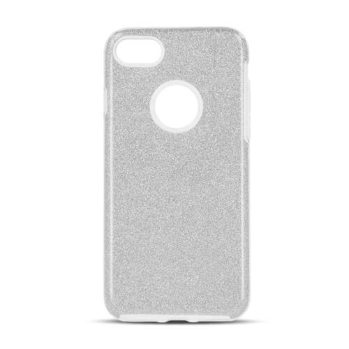 Apple iPhone X / XS Shining Glitter 3in1 Ezüst Színű Szilikon Tok