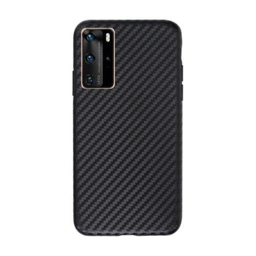 Huawei P40 Slim Carbon Karbonmintás Fekete Színű Szilikon Tok