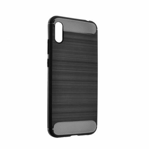 Huawei Y6 Prime 2019 / Y6S / Honor 8A Carbon Karbonmintás Fekete Színű Szilikon Tok