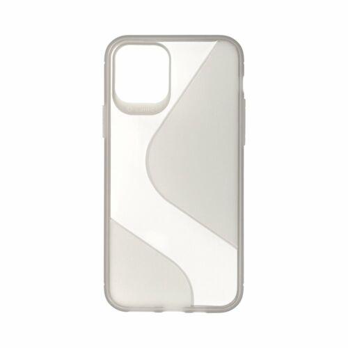 Apple iPhone 11 S-Case Füst Színű Szilikon Tok