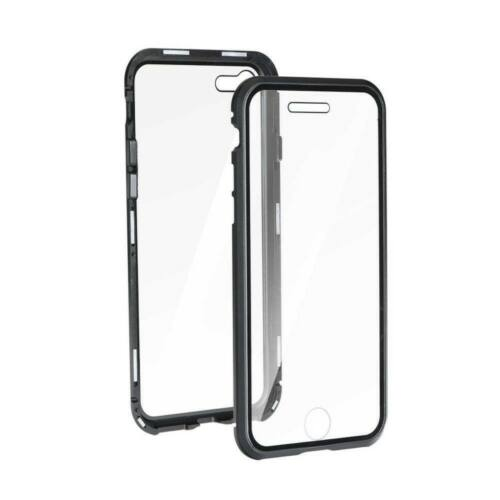 Apple iPhone 11 Pro Magneto 360°-os Átlátszó Tok Fekete Kerettel