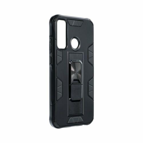 Apple iPhone 12 / 12 Pro Armor Defender Fekete Színű Mágneses Műanyag Tok