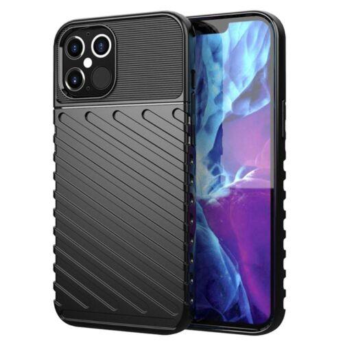 Apple iPhone 7 / 8 / SE 2020 Thunder Case Fekete Színű Ütésálló Szilikon Tok