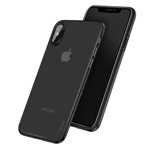 Apple iPhone X / XS Hoco Thin Series Frosted Ultra Vékony Fekete Szilikon Tok