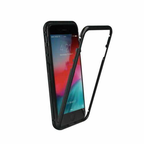 Apple iPhone XR Magnetic 180°-os Átlátszó Tok Fekete Kerettel