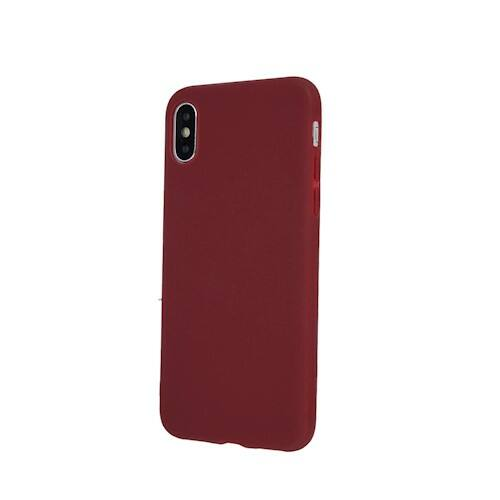 Huawei P Smart 2019 / Honor 10 Lite Matt Burgundi Színű Szilikon Tok